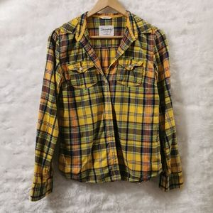 🧁3/$25 Aeropostale Plaid Button Up Shirt